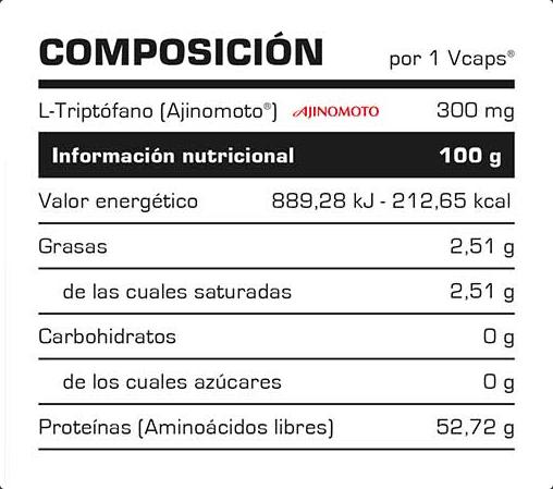 Composicion Triptófano